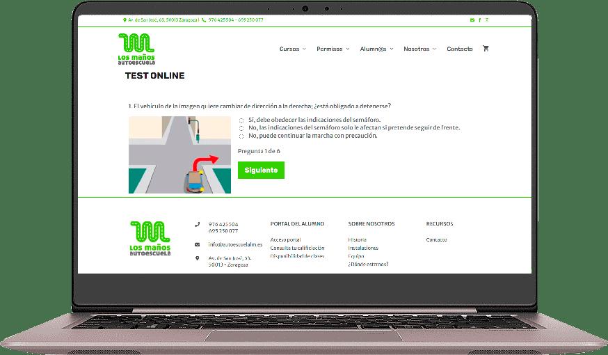 test online autoescuela